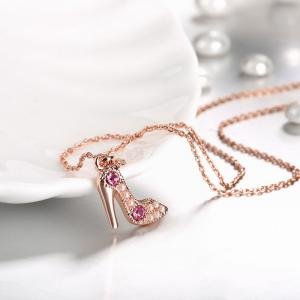 Romantic High Heel Shape Pendant Necklace Charm Jewelry -