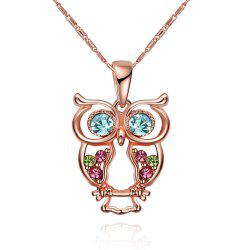 Fashion Multicolor Hollow Out Owl Shape Pendant Necklace Charm Jewelry -