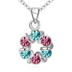 Multicolor Romantic Wreath Shape Pendant Necklace Charm Jewelry -