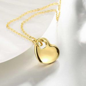 Hollow Out Heart Shape Pendant Necklace Charm Jewelry Gift For Women -
