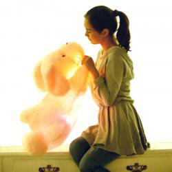 Glowing Lying Dog Plush Toy Inductive Luminous with LED Lights Doll for Kids -
