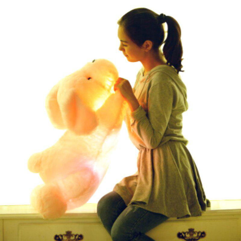 Outfit Glowing Lying Dog Plush Toy Inductive Luminous with LED Lights Doll for Kids