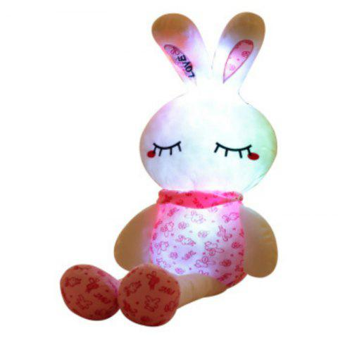 Outfits Glowing Long Legs Rabbit Plush Toy Inductive Luminous with LED Lights Doll for Kids