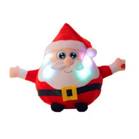 Latest Glowing Christmas Elk Santa Claus Plush Toy Inductive Luminous with LED Lights Doll for Kids