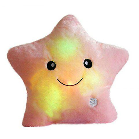 Discount Glowing Pentagrams Pillow Plush Toy Inductive Luminous with LED Lights Doll for Kids