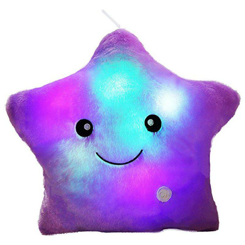 Outfits Glowing Pentagrams Pillow Plush Toy Inductive Luminous with LED Lights Doll for Kids
