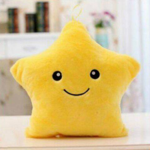 Fashion Glowing Star Style Pillow Plush Toy Inductive Luminous with LED Lights Doll for Kids