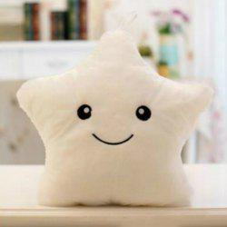 Glowing Star Style Pillow Plush Toy Inductive Luminous with LED Lights Doll for Kids -