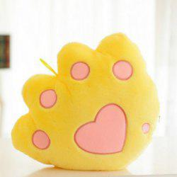Glowing Bear Paw Style Pillow Plush Toy Inductive Luminous with LED Lights Doll for Kids -