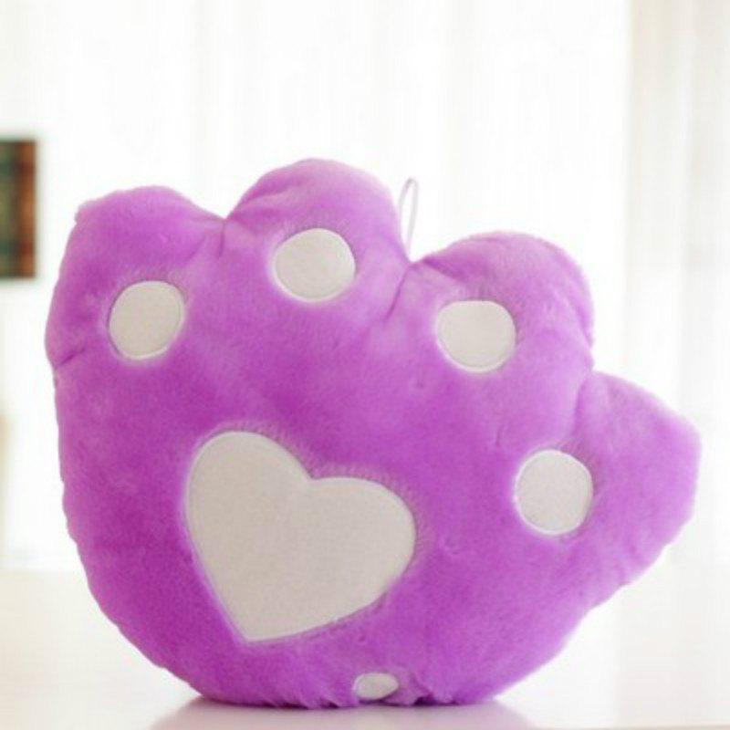 Trendy Glowing Bear Paw Style Pillow Plush Toy Inductive Luminous with LED Lights Doll for Kids