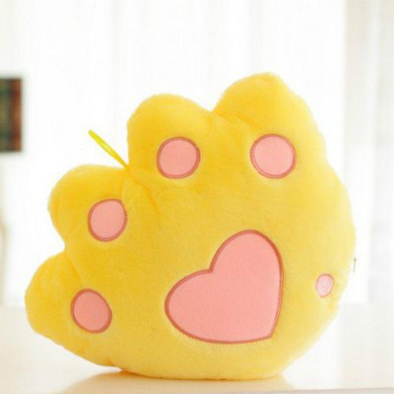 Shop Glowing Bear Paw Style Pillow Plush Toy Inductive Luminous with LED Lights Doll for Kids