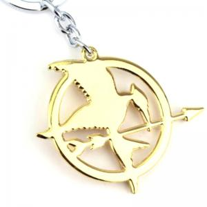 Flying Bird Style Decoration Zinc Alloy Key Chain for Anime Fans -
