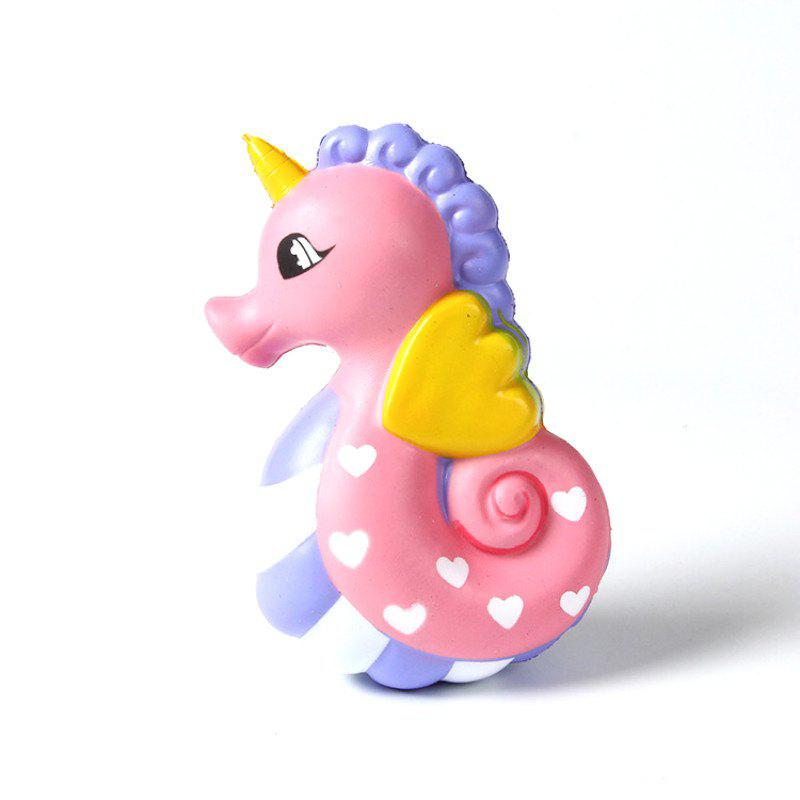 Fancy Latest Jumbo Squishy Slow Rising Stress Relief Toy Made By Enviromental PU Replica Cartoon Hippocampus 16CM Height