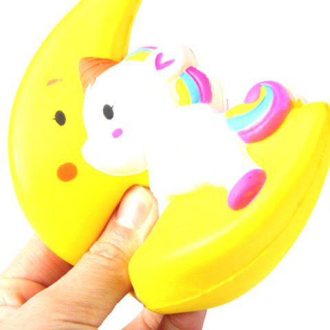 Online Latest Jumbo Squishy Slow Rising Stress Relief Toy Made By Enviromental PU Replica Cartoon Moon Pegasus 12CM Height