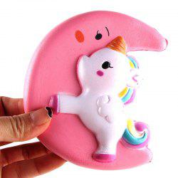 Le plus défunt Jumbo Squishy Lente Soulèvement Soulagement Du Stress Fait par Enviromental PU Replica Cartoon Moon Pegasus 12CM Hauteur -