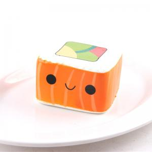 Latest Jumbo Squishy Slow Rising Stress Relief Toy Ornamental Pendant Made By Enviromental PU Replica Square Sushi -