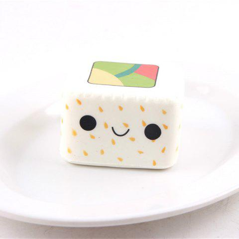 Outfit Latest Jumbo Squishy Slow Rising Stress Relief Toy Ornamental Pendant Made By Enviromental PU Replica Square Sushi