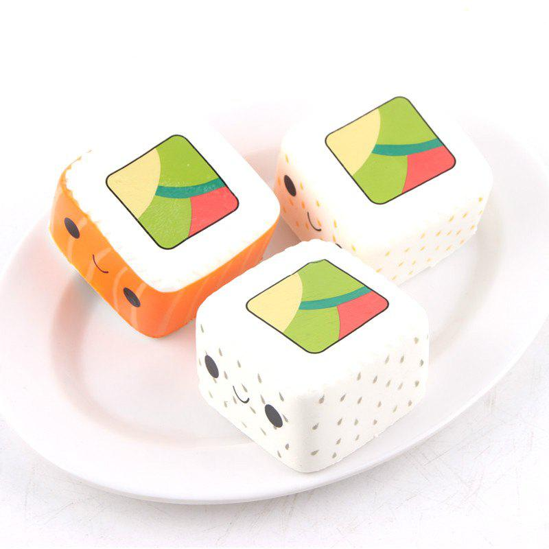 Trendy Latest Jumbo Squishy Slow Rising Stress Relief Toy Ornamental Pendant Made By Enviromental PU Replica Square Sushi