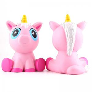 Latest Jumbo Squishy Slow Rising Stress Relief Toy Made By Enviromental PU Replica Pink Unicorn -