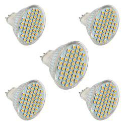 5 PCS ZHENMING MR16 GU5.3 DC10V -24V Super Lumineux 48 LED 3528 SMD LED Spotlight -