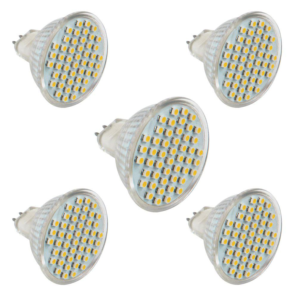 5 PCS ZHENMING MR16 GU5.3 DC10V -24V Super Lumineux 48 LED 3528 SMD LED Spotlight