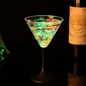 Luminescent Glass Button Control Cocktail  Goblet Cup -