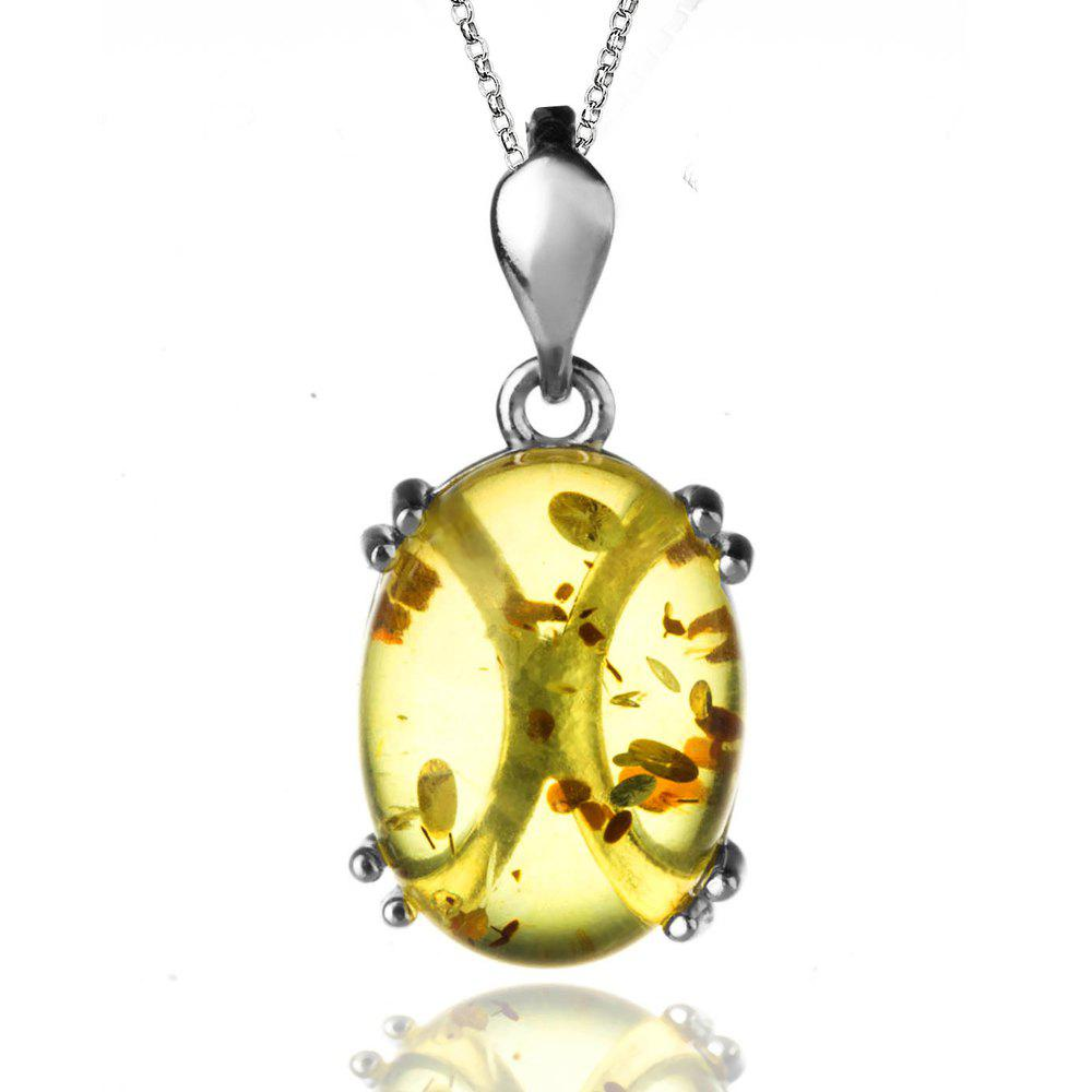 Outfits Amber Silver Pendant36091 Gift Jewelry