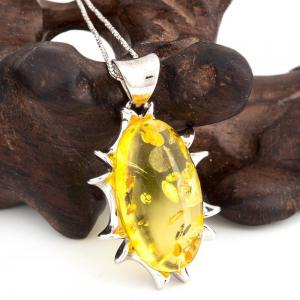 Amber Silver Pendant36090 Gift Jewelry -