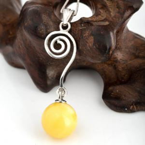 Amber Silver Pendant36094 Gift Jewelry -