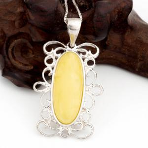 Amber Silver Pendant36102 Gift Jewelry -