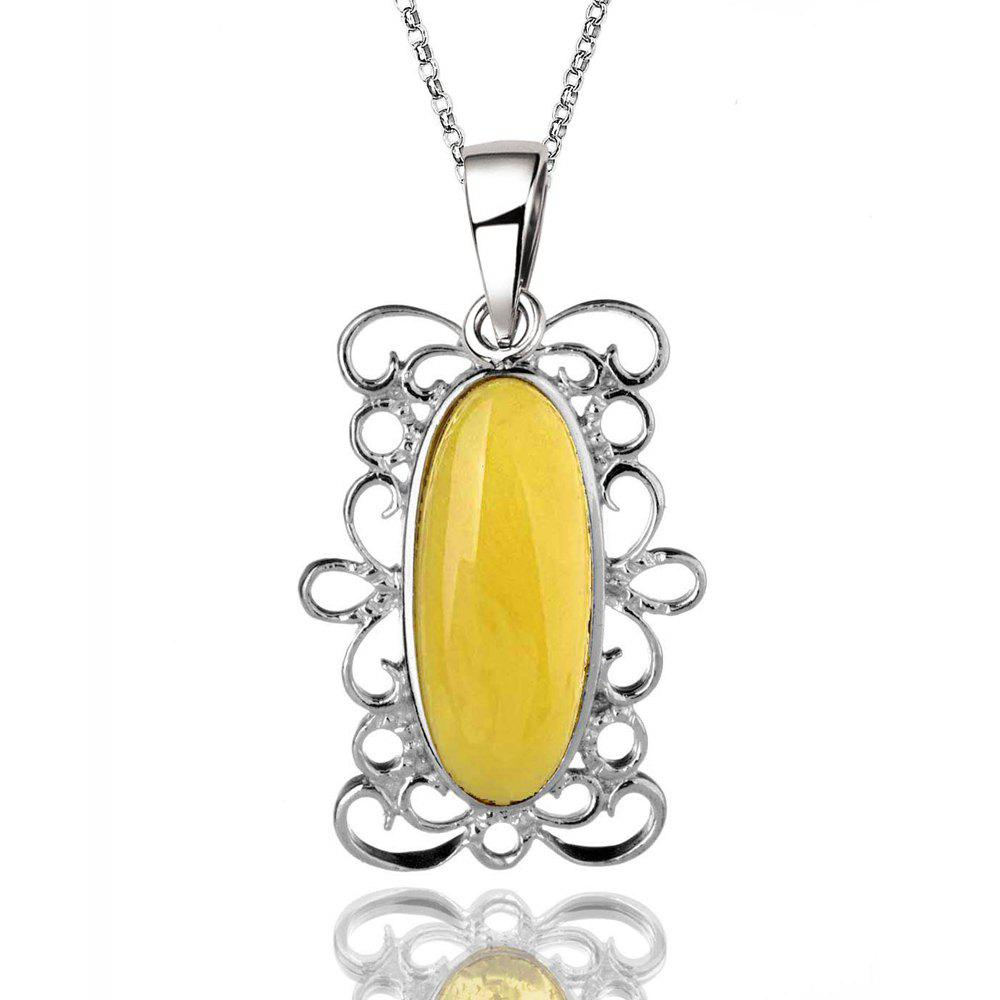 Outfits Amber Silver Pendant36102 Gift Jewelry
