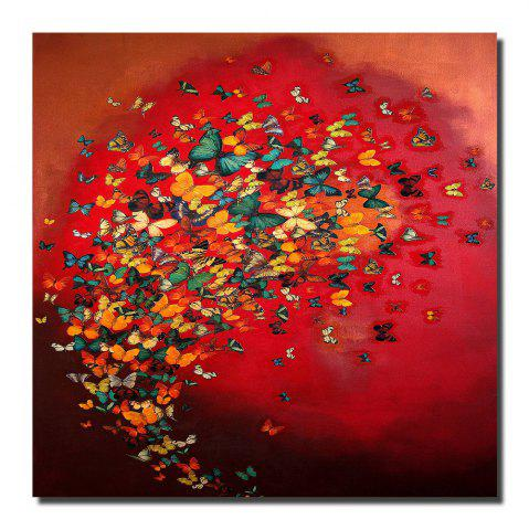 Trendy Printing Oil Painting Modern Minimalist Butterfly Home Wall Art Deco