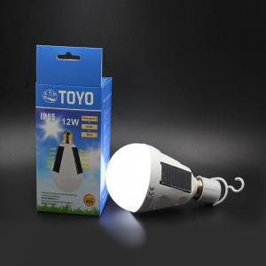 CHNTOYO 12W Portable Solar Panel LED Bulb Emergency Light  -  WHITE -