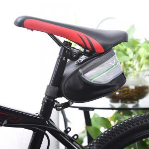 Yanho Water Resistant Bicycle Seat Tail Saddle Pouch  -  BLACK AND GREY -