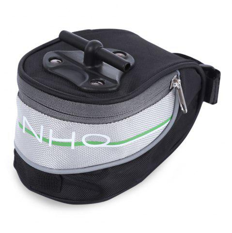 Chic Yanho Water Resistant Bicycle Seat Tail Saddle Pouch  -  BLACK AND GREY