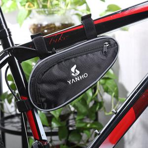 YANHO YA009 Cycling Bag Front Frame Triangle Pouch  -  BLACK -