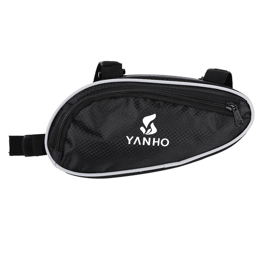 Shop YANHO YA009 Cycling Bag Front Frame Triangle Pouch  -  BLACK