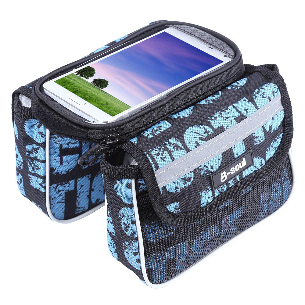 Shop B - SOUL Bicycle Frame Pannier Saddle Touch Screen Phone Bag  -  BLUE AND BLACK