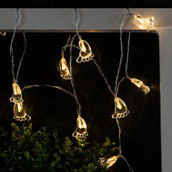 Transparent Foot String Lights LED Home Decor Light Home Garden Battery Powered 1.65M 10 LED -