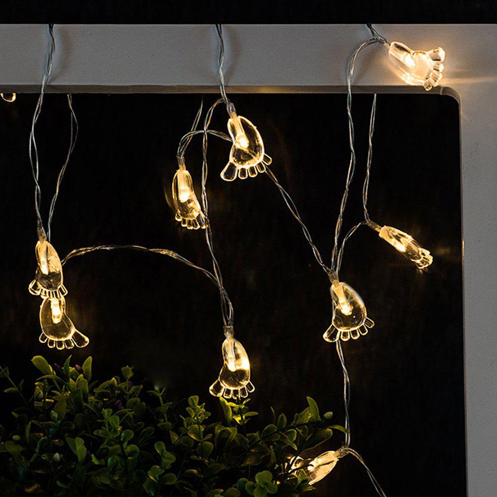 Hot Transparent Foot String Lights LED Home Decor Light Home Garden Battery Powered 1.65M 10 LED