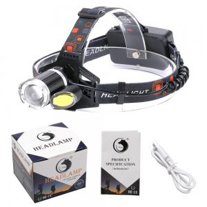 U'King ZQ-X856 XML-T6 2000LM 4 Mode Multifunction Zoomable High Brightness LED Headlamp with 2 Red White COB LEDs -