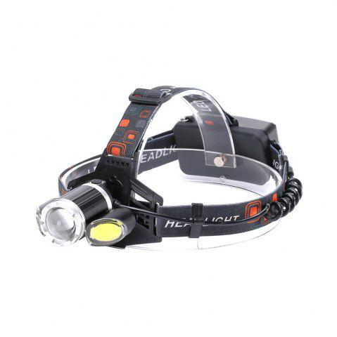 Cheap U'King ZQ-X856 XML-T6 2000LM 4 Mode Multifunction Zoomable High Brightness LED Headlamp with 2 Red White COB LEDs