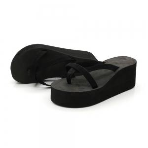 Ladies Solid Color Beach Sandals Fashion Thick Bottom Slippers -