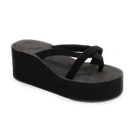 Latest Ladies Solid Color Beach Sandals Fashion Thick Bottom Slippers