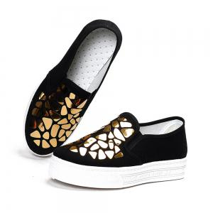 Femmes Paillettes Toile Chaussures Casual Slip-on Sneakers -