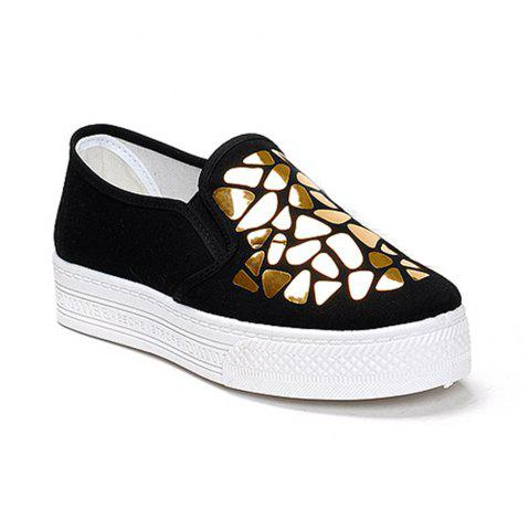 Shop Women Sequined Canvas Shoes Casual Slip-on Sneakers