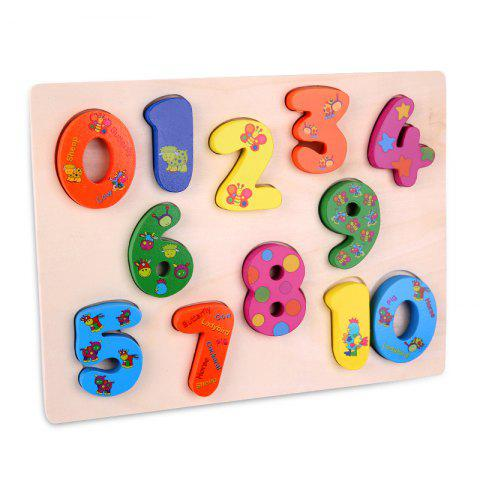Unique Number Woodiness Jigsaw Puzzle Toy