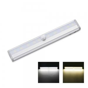 Wireless Motion Sensor Wardrobe Light 10LEDS Induction Nightlight Bar Home Decoration Lamp Battery Operated -