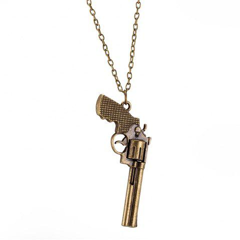 Chic Vintage Punk Style Gun Shape Pendant Necklace Charm Jewelry