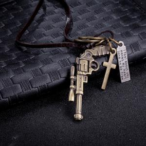 Vintage Punk Style Gun Alloy Pendant Necklace Charm Jewelry -